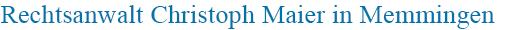 Rechtsanwalt Memmingen Christoph Maier Mobile Retina Logo